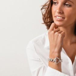 Bracelet Gourmette CORIDOR métal - Chaîne & Fermoir anneau barrette signé CXC