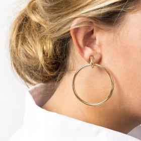 Boucles d'oreilles RING doré CXC - Créoles & Anneaux grands ronds