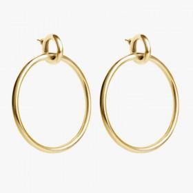Boucles d'oreilles RING doré - Créoles & Anneaux grands ronds signées CXC