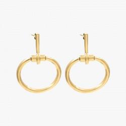 Boucles d'oreilles MORS doré CXC - Pendants barres & Anneaux ovales