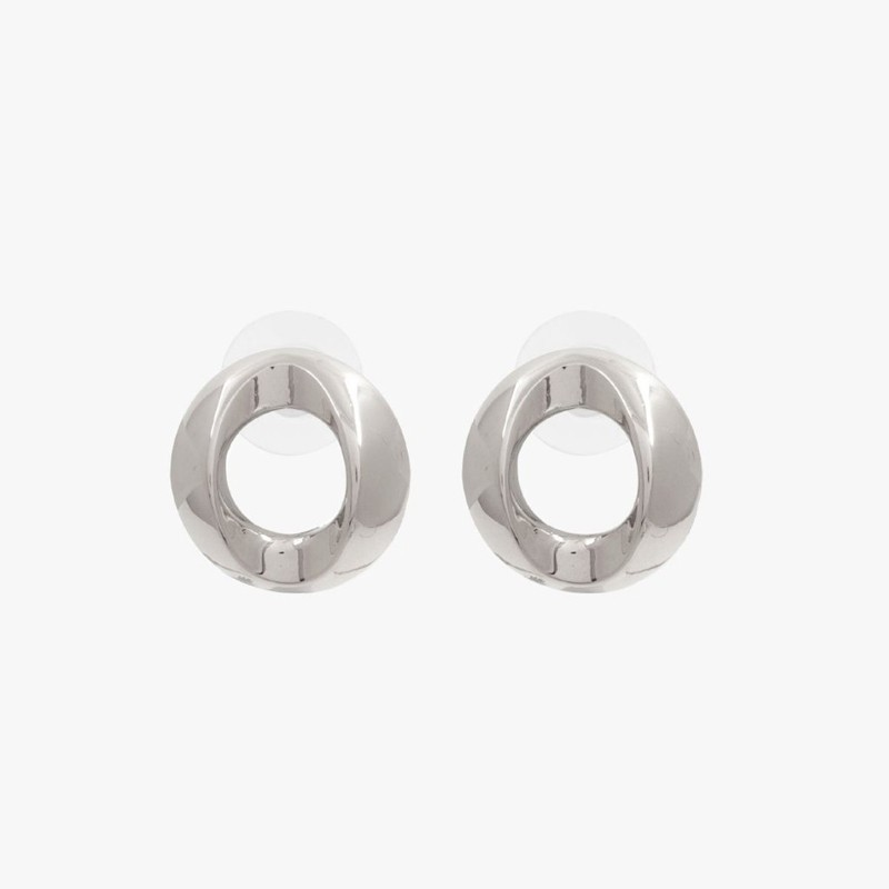 Boucles d'oreilles BOTON métal CXC - Pendants plaqués & Anneaux bombés design