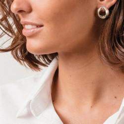Boucles d'oreilles BOTON métal - Pendants plaqués & Anneaux bombés design signés CXC