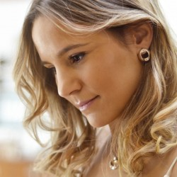 Boucles d'oreilles BOTON métal CXC