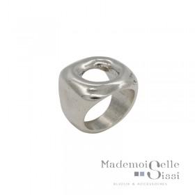 Grosse Bague métal ENCUADRA & Décor carré évidé design - CICLON