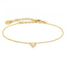 Bracelet Chaîne Isis Or BDM Studio  Corolle fleur & Cristal