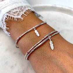 Les bracelets DORIANE Bijoux Plumes