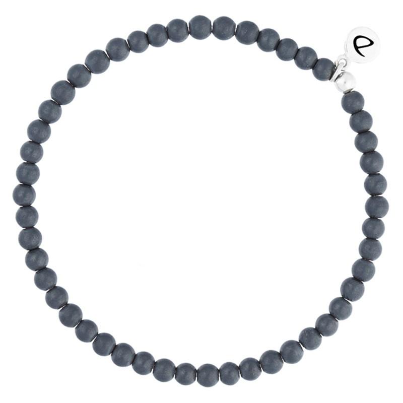 Bracelet homme élastiqué argent & Perles hématites grises signé DORIANE Bijoux