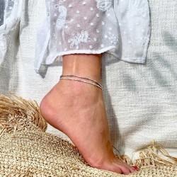 Composition des bracelets de chevilles signées DORIANE Bijoux