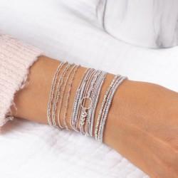 Jolie composition de bracelets Doriane gris