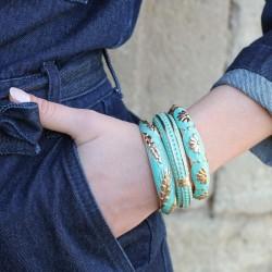 Trois joncs ARGELOUSE turquoise ! Chouette !