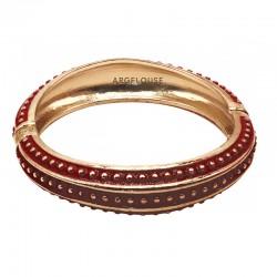 Bracelet Jonc Amok Doré émaillé Rouge & Pois dorés ARGELOUSE