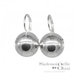 Boucles d'oreilles sur dormeuses boule argent 925 diamètre 18 mm DORIANE BIJOUX