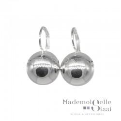 Boucles d'oreilles sur dormeuses Doriane - boule argent 925 diamètre 16 mm DORIANE BIJOUX