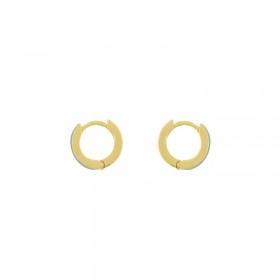 Boucles d'oreilles UNE A UNE - mini créoles dorées PASSION - Email Turquoise