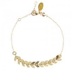 Bracelet ajustable PIA doré - Chaîne fine & décor épis NILAI