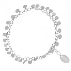 Bracelet Fin Chaîne Argent - Gourmette & Pastilles plates - CANYON
