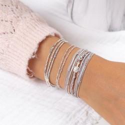 Bracelet LIVERPOOL signé Doriane Bijoux de couleur grise !