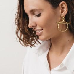 Boucles d'oreilles Créoles RING doré CXC