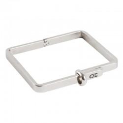 Bracelet Jonc métal Rectangle & stylisé Carré CXC BIJOUX