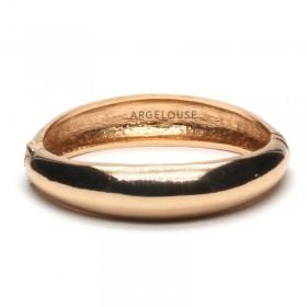Bracelet Jonc AMOK GOLD - Jonc lisse bombé en laiton doré ARGELOUSE