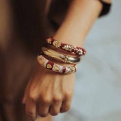 Bracelet Jonc AMOK GOLD UNI - Jonc lisse bombé en laiton doré