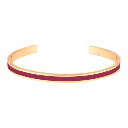 Bracelet jonc ouvert Bangle - Laiton doré & Email Dahlia - BANGLE UP