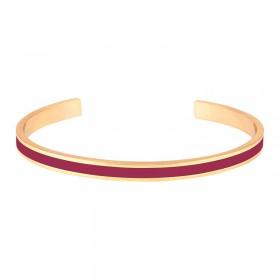 Bracelet jonc ouvert Bangle - Laiton doré & Email Dahlia - BANGLE UP