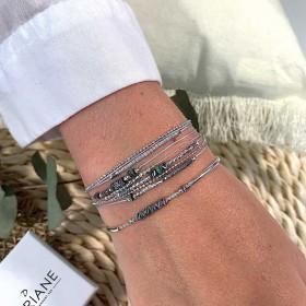 Poignet ambiance grise réussi signé DORIANE Bijoux