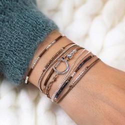 Belle compo bracelets marron DORIANE Bijoux