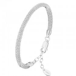 Bracelet Jonc souple en argent - Maille Framboisine design CANYON
