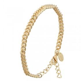 Bracelet Chaîne dorée - Gourmette petits maillons ronds serrés Canyon Bijoux