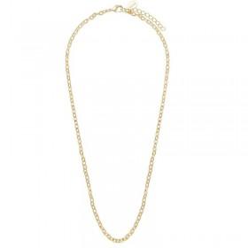 Collier chaîne dorée 52cm - Maillons forçats serrés ronds & plats Canyon Bijoux