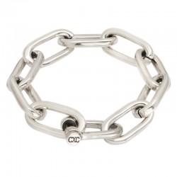 Bracelet Gourmette métal - Grosse maille marine & Fermoir manille CXC