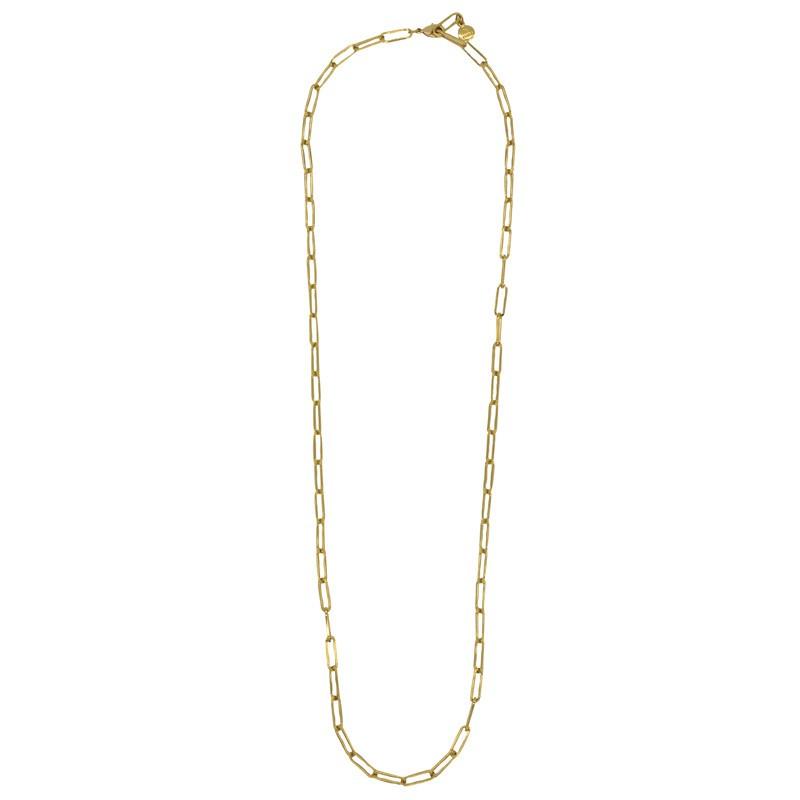 Collier sautoir MAILLE doré - Maillons forçats allongés moyens designs BY GARANCE