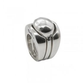 Grosse bague métal stylisée boule triple trois en 1 - 3 anneaux CICLON