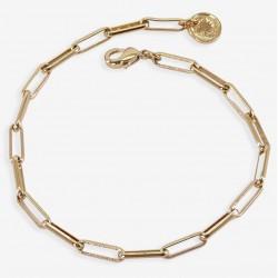 Bracelet Fin CHEVAL doré - Chaîne Maillons cheval allongés - CHORANGE