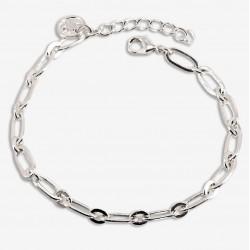 Bracelet Fin chaîne DIM argent - Petits & Grands maillons allongés - CHORANGE