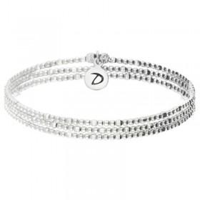 Bracelet élastique Triple tours Argent - Perles lisses & facettées   - DORIANE BIJOUX