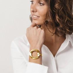 Bracelet Jonc Or Poniente - Décor Ellipse Rond évidé design