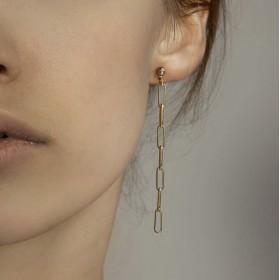 Boucles d'oreilles pendantes DIM DORE - Maillons allongés CHORANGE