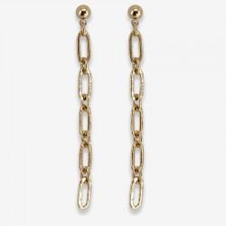 Boucles d'oreilles pendantes DIM chaîne dorée - Maillons allongés CHORANGE
