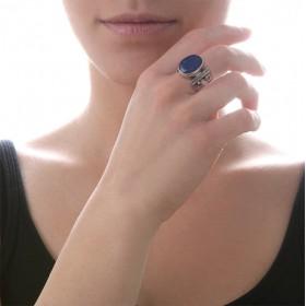 Exceptionnelle bague CANYON Lapis Lazuli