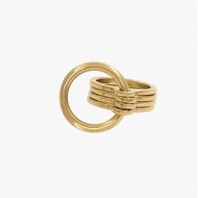 Bague Large ROUNDS doré - Anneaux & Décor anneau rond design - CXC