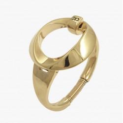 Bracelet Jonc Or PONIENTE - Décor Ellipse Rond évidé design cxc