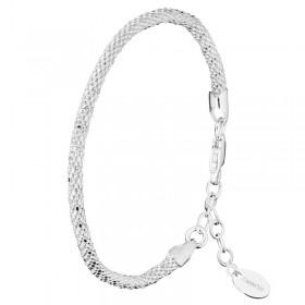Bracelet Jonc souple en argent - Maille Framboisine design 3 mm CANYON