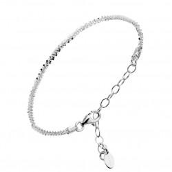 Bracelet Chaîne Argent - Mailles diamantés designs CANYON