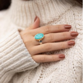 Bague Turquoise ovale - CANYON