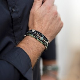 New composition bracelets hommes signés DORIANE Bijoux