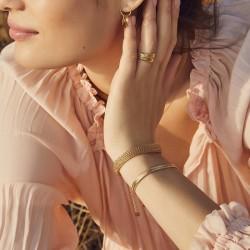 Bracelet Jonc souple VENICIA Or - Maillage fin & design