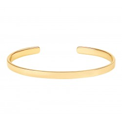 Bracelet jonc fin ouvert BANGLE UP  en laiton doré stylisé Or light